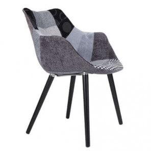 TWELVE - Grey and black Patchwork chair