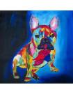 Tableau BullDog Abstrait