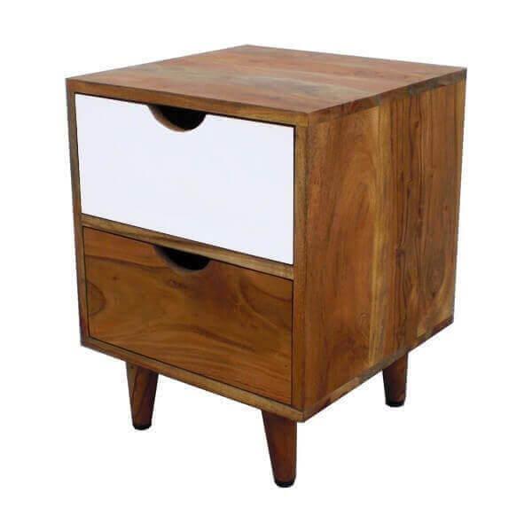 Chevet nordique moderne en bois au design scandinave for Table de chevet nordique