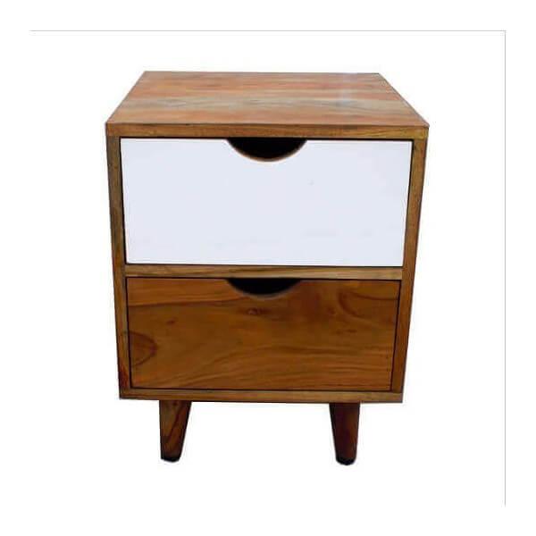 nordique wood bedside table