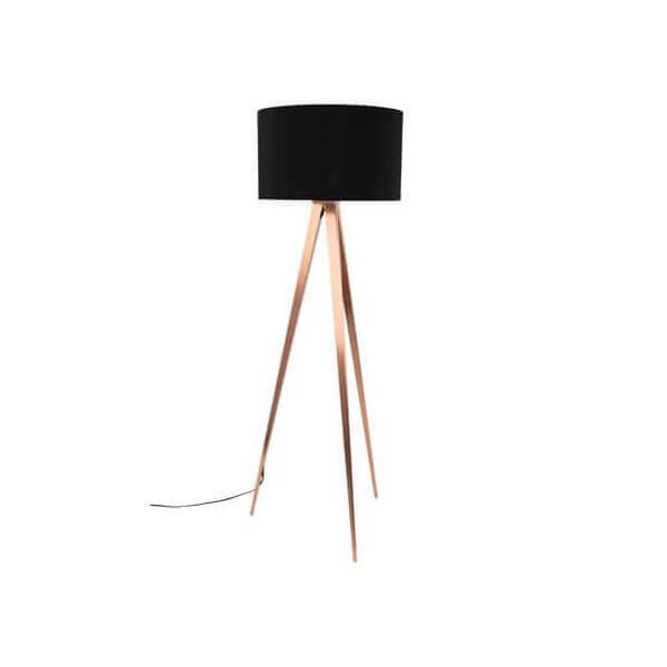 Floor lamp tripod copper black