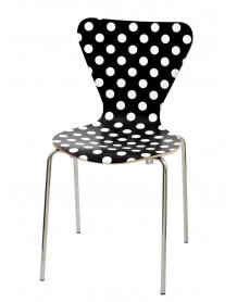 Black&White spotted dining chair