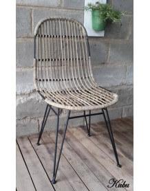 Chaise repas rotin Kubu