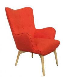 Orange Java arm chair