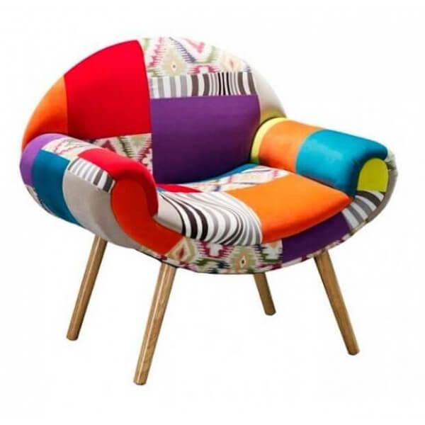 Patchwork Hippie Chic - Fauteuil patchwork design