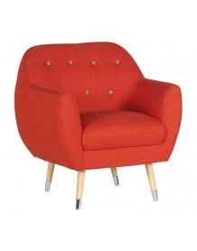 Fauteuil design club orange