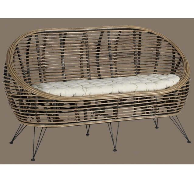 salon ball rotin. Black Bedroom Furniture Sets. Home Design Ideas
