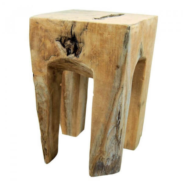 Wooden stool root
