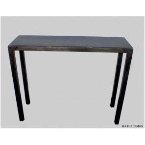Industrial pier table in crude steel