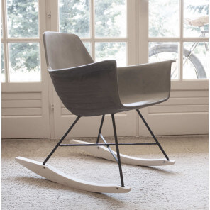 Concrete rocking chair