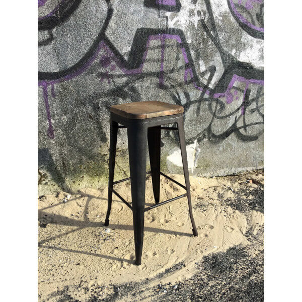 loft bar stool in industrial style. Black Bedroom Furniture Sets. Home Design Ideas