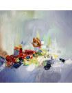 Tableau abstrait sur toile Ilot