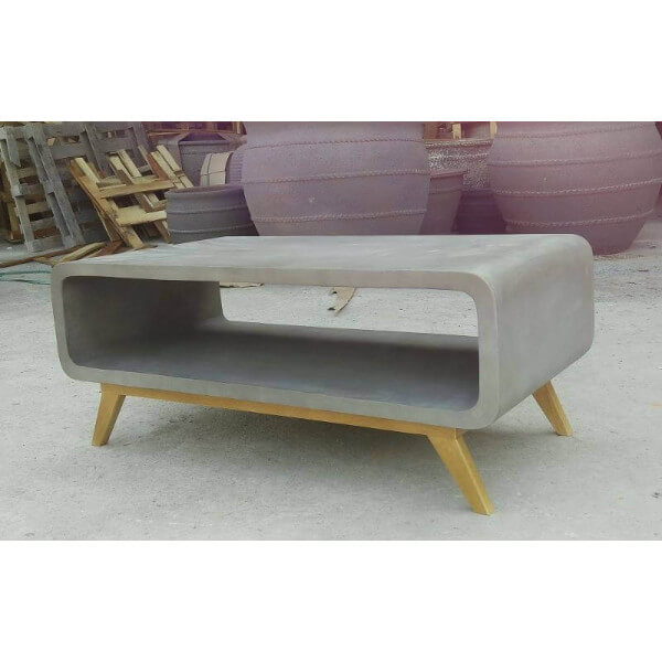 Table basse de salon en beton for Table basse design nordique