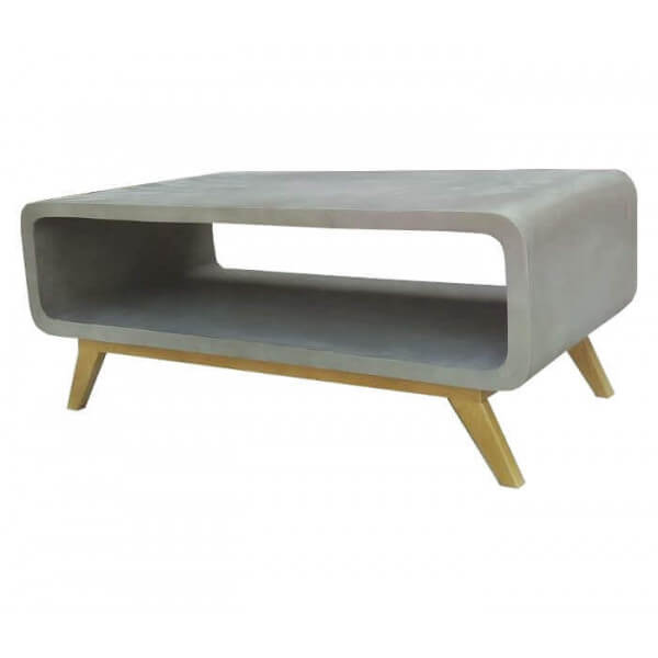 Table basse b ton massif for Table basse design nordique