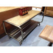 Table basse industrielle roulettes