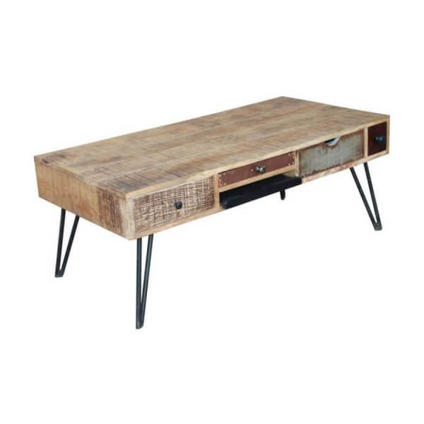 table basse de salon vintage. Black Bedroom Furniture Sets. Home Design Ideas