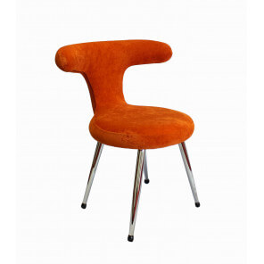Chaise originale pop orange