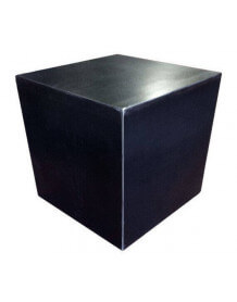 Cube design acier brut