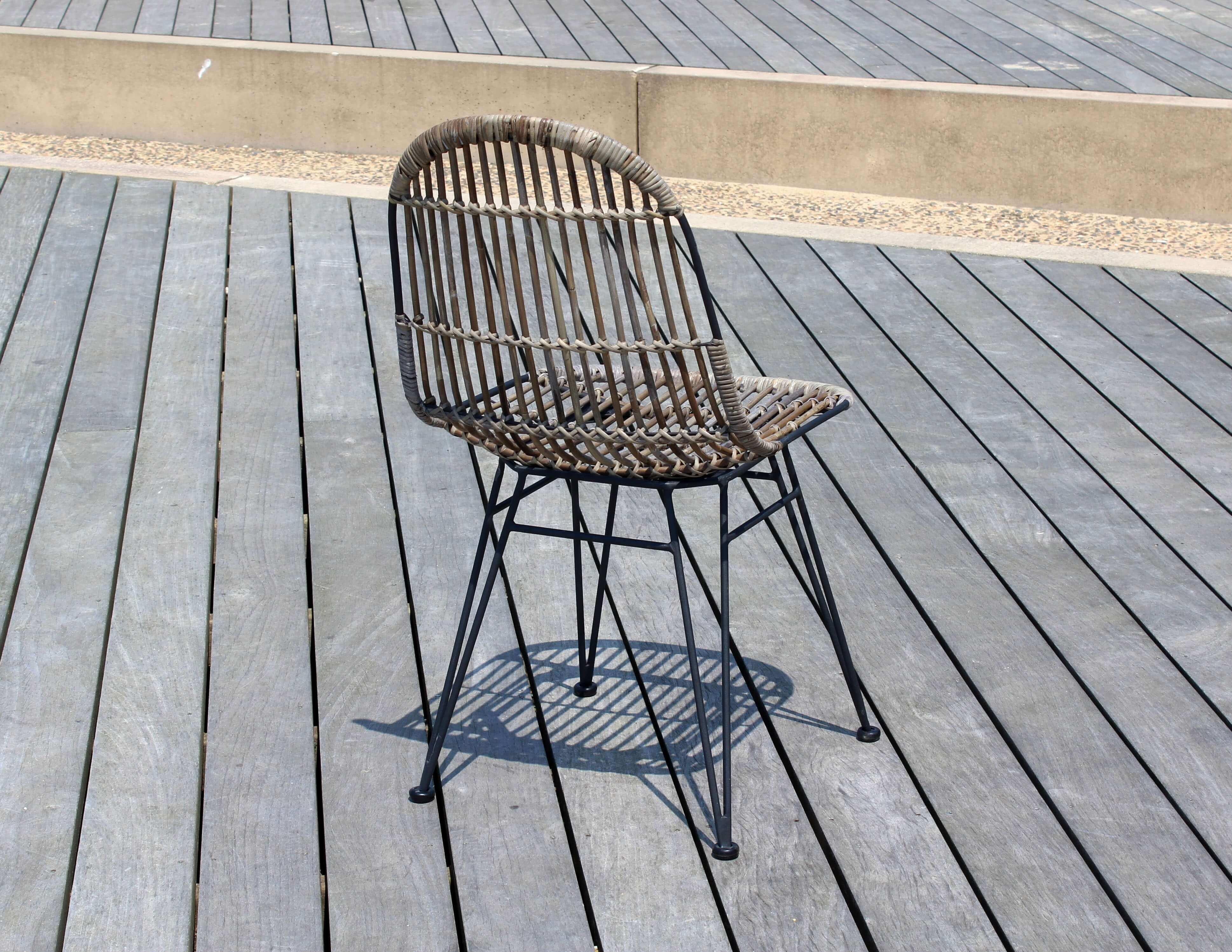 Chaise repas en rotin