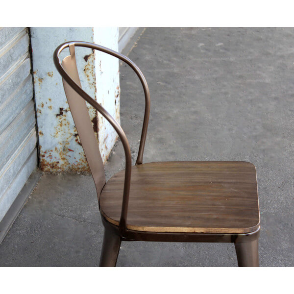 chaise acier industriel beautiful chaise de bar avec dossier tabouret de bar avec dossier en. Black Bedroom Furniture Sets. Home Design Ideas