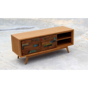 136 cm wood TV cabinet