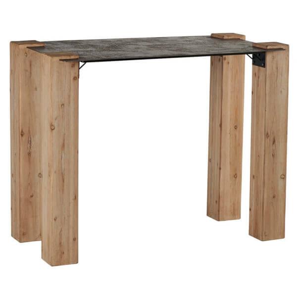 Table haute bois acier for Table bois acier
