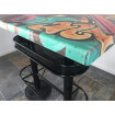 Industrial heigh table with Graffiti top
