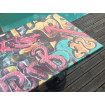 Table top with Graffiti design
