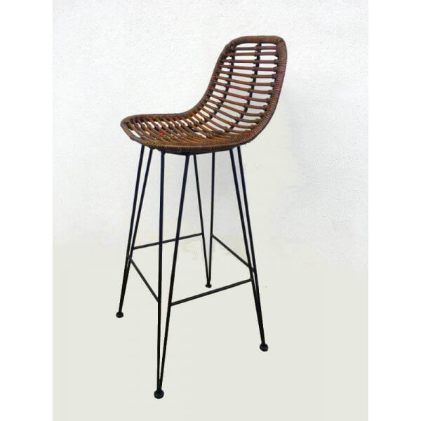 Promo Chaise Bar Rotin Marron