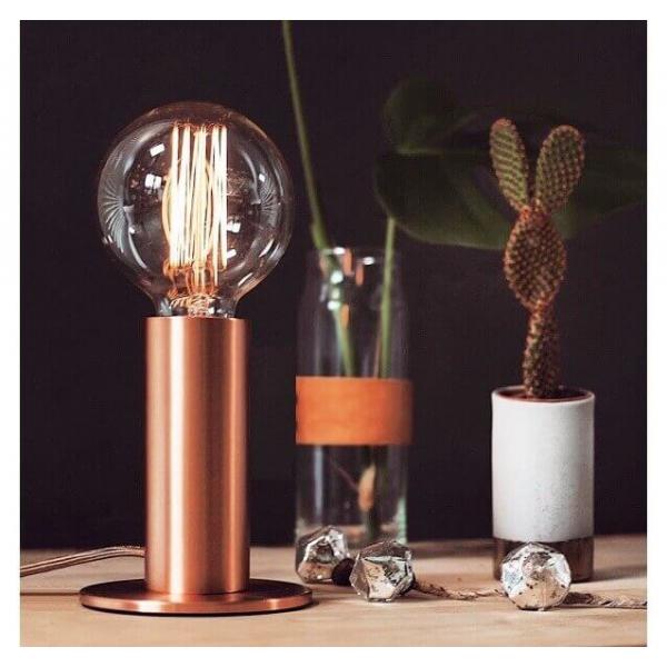 Sensitive Copper table lamp Sol