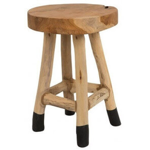 Wooden stool 45 cm heigh