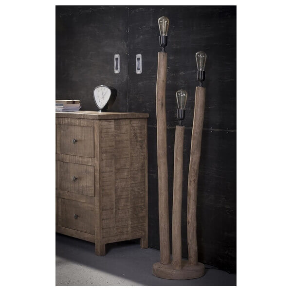 lampadaire exterieur bois lampadaire en bois blanchi. Black Bedroom Furniture Sets. Home Design Ideas