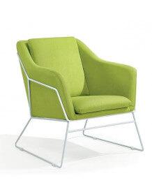 Fauteuil design scandinave vert