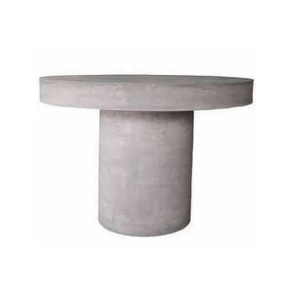 Concrete round table for outdoor use