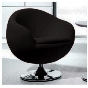 BALL - Design armchair in black fabric