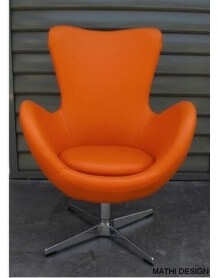 Design orange armchair Cocoon