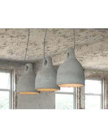 Triple industrial pendant lamp