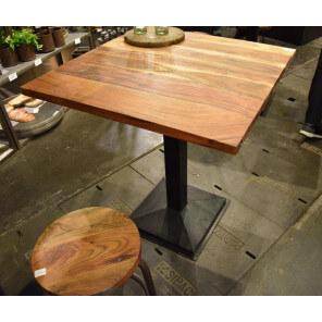 Table carrée 70 cm acacia