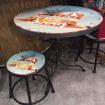 Table ronde California avec tabouret