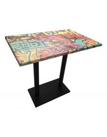Table haute graffiti