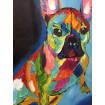 Tableau pop chien bulldog