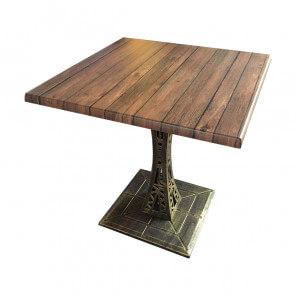 table carrée cafe terrasse