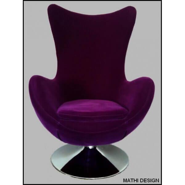 Fauteuil design couleur Prune