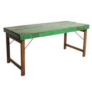 Green vintage table