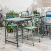 Table/console bleue style Bohème