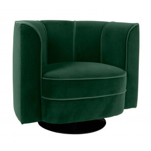Green Flower lounge chair