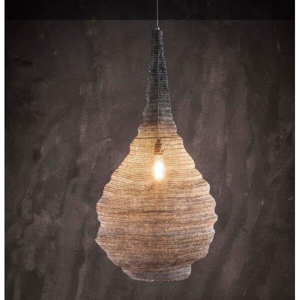 Grey iron mesh pendant lamp