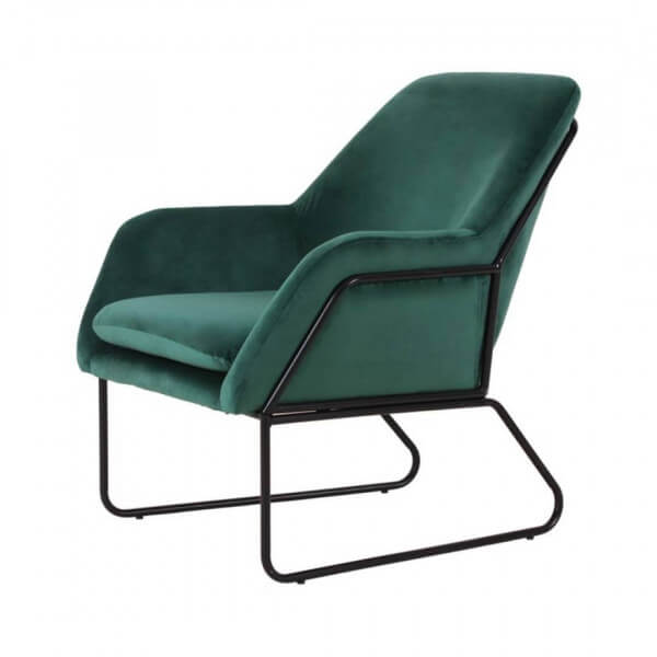 fauteuil Abisko velours vert