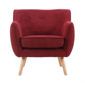 Fauteuil design Scandinave rouge