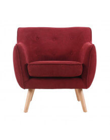Fauteuil Scandinave Aksel rouge